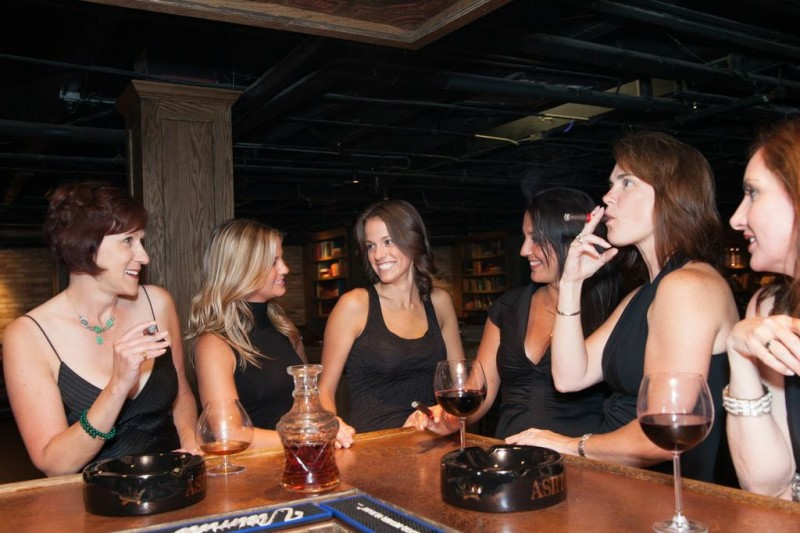 women around bar